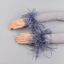 Load image into Gallery viewer, Ostrich feather cuffs