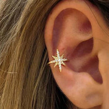 Load image into Gallery viewer, Starburst gold ear cuff
