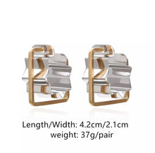 Load image into Gallery viewer, Mixed metal shape earrings