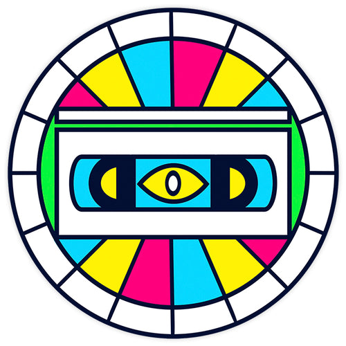 ALL SEEING VHS EYE STICKER