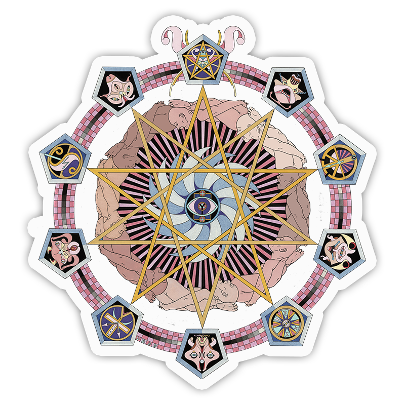 SATAN'S DECAGRAM STICKER