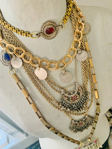 Wanderlust boho layered necklaces