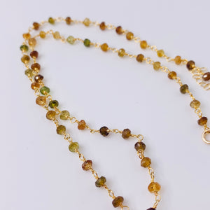 Tourmaline Chain Pendant Necklace