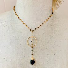 Load image into Gallery viewer, Tourmaline Chain Pendant Necklace