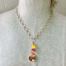 Load image into Gallery viewer, Sunset Gemstone Charm Necklace
