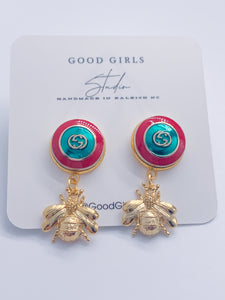 What's the Buzz GG Button Bee Earrings