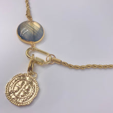 Load image into Gallery viewer, The Traveler: Relic Coin Carabiner Necklace