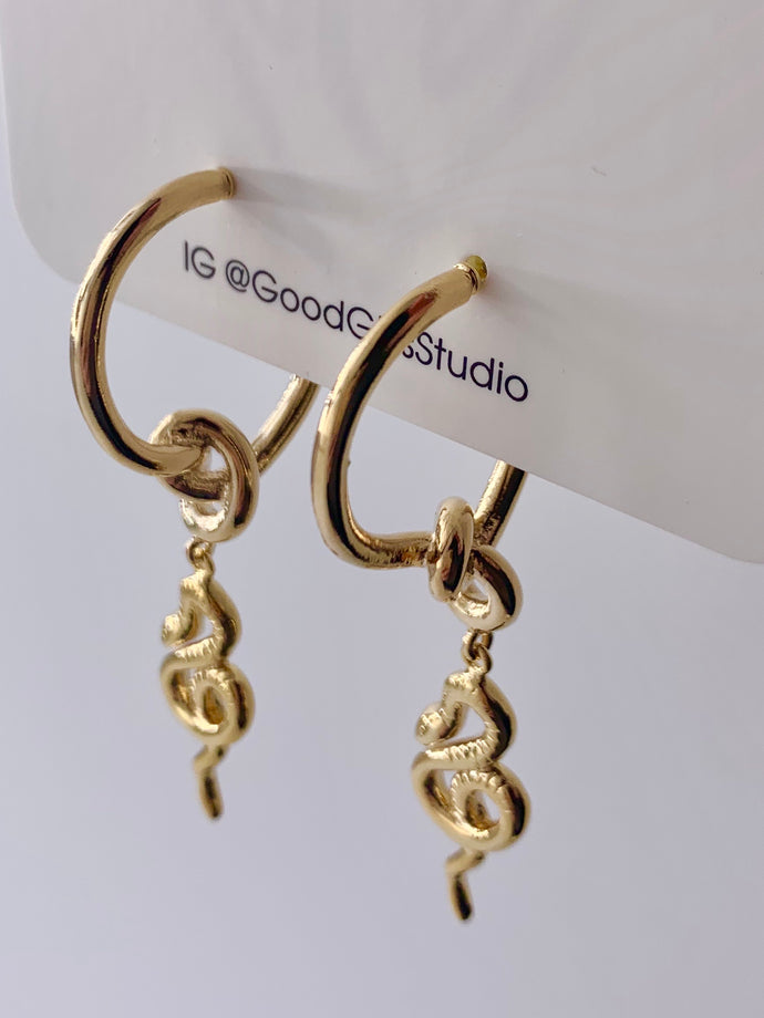 Serpentine Snake Earrings