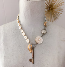 Load image into Gallery viewer, Mimi...Vintage Assemblage Key Necklace