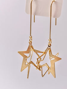 3D Shooting Star Earrings