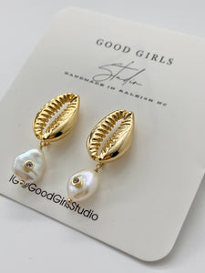 Gemma Cowrie Earrings