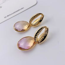 Load image into Gallery viewer, Under the Sea Cowrie Shell Earrings