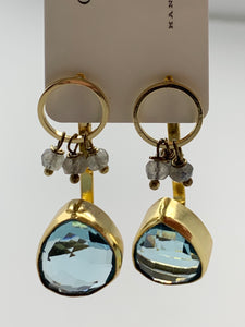 Gemstone Ear Jacket Earrings