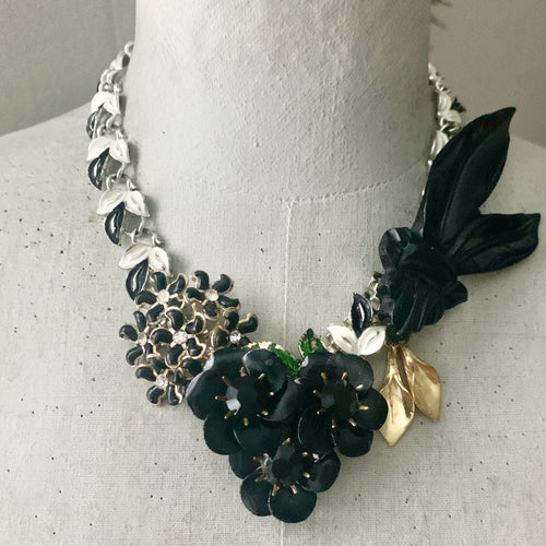 Morgan One of a Kind Floral Statement Necklace