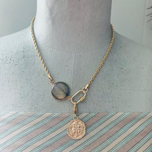The Traveler: Relic Coin Carabiner Necklace
