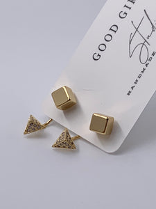 Geometric Ear Jacket Earrings