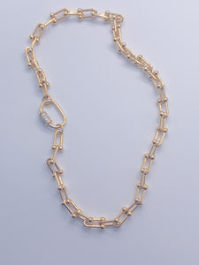 Gold Pop Chain Necklace