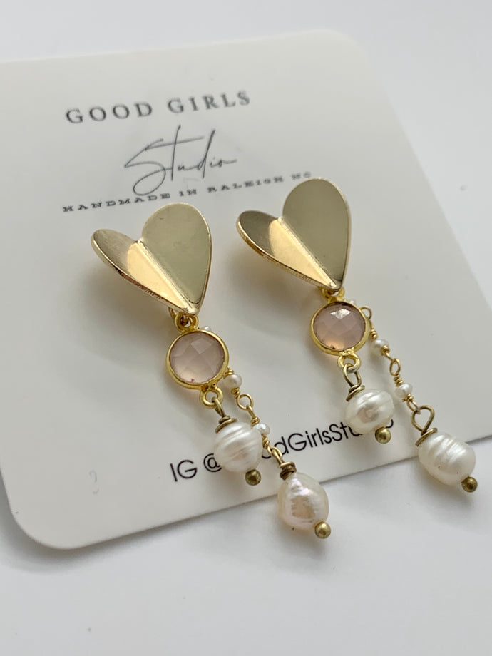 Gemma Paper Heart Earrings