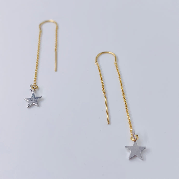 Shooting Star Ear Threader Earrings
