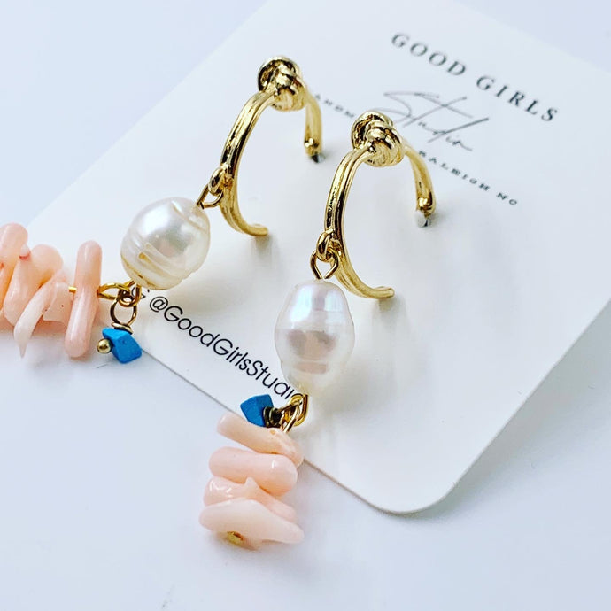 Mermaid Shell Hoop Earrings