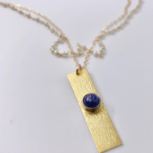 Lapis Charm Layered Necklace