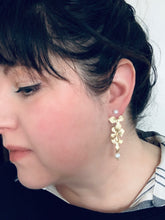 Load image into Gallery viewer, Flower Ear Jacket Earrings