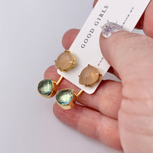 Load image into Gallery viewer, Gemstone Ear Jacket Earrings