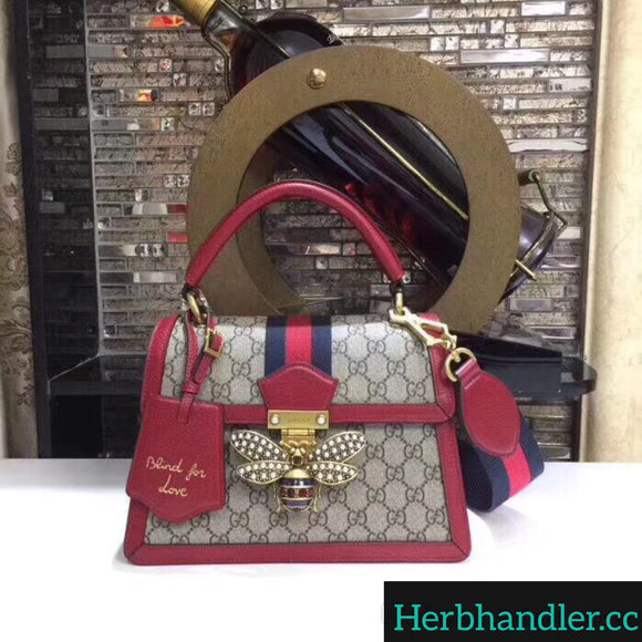 Double H GG Red Designer Handbag