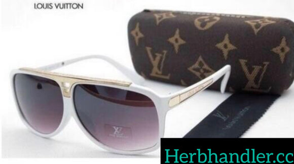 Double H LV White Sunglasses
