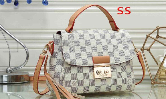 Double H White LV Handbag