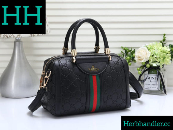 Double H GG Black Handbag