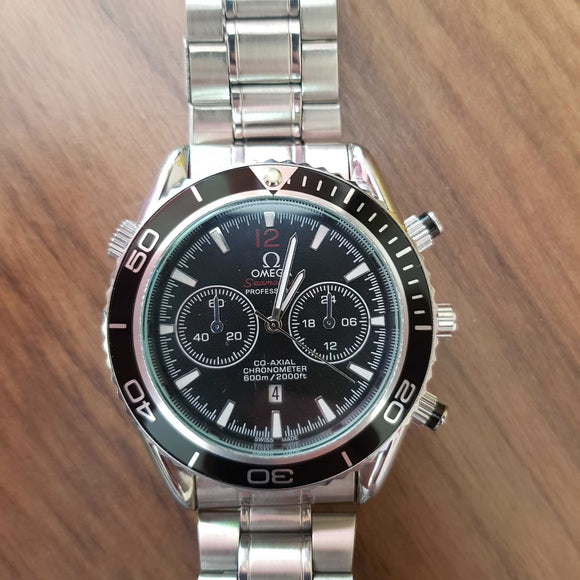 Double H Omega Black Chrono