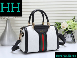 Double H White GG Handbag