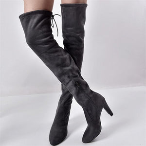 Double H Knee High Pointed Toe Boots