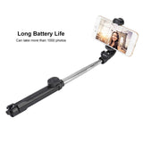 HH 3 in 1 Wireless Bluetooth Selfie Stick + Mini Selfie Tripod with Remote Control