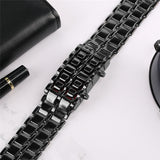 Double H Black Full Metal Digital Lava Wrist Watch