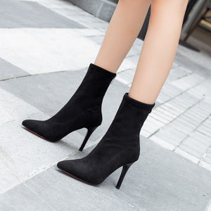 Double H High Heel Pointed Boots