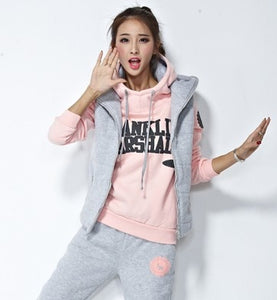Double H Sweatshirt Vest & Pants 3pcs set