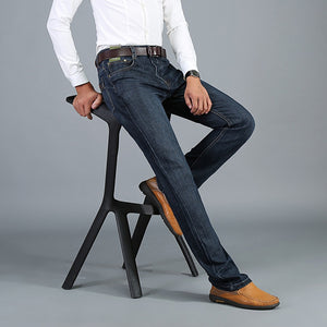 Stretch Slim Straight Deep Blue Mens Jeans