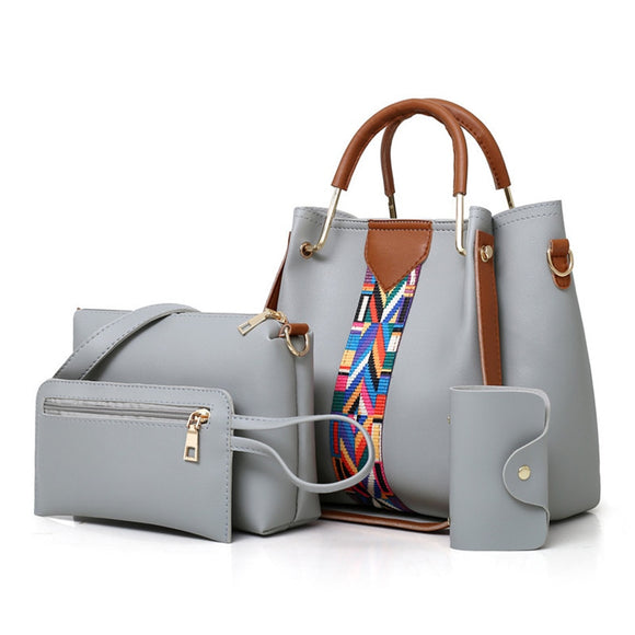 HH Su Leather Handbag Set