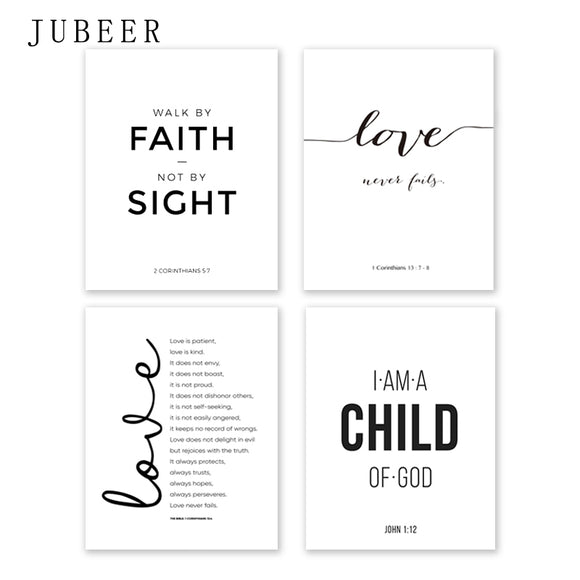 HH Christian Quotes Canvas Painting Posters