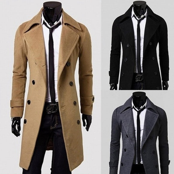 HH Long Wool Trench Coat