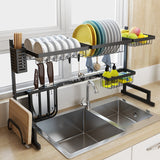 HH 2 Layers Multi-use Stainless Steel Dishes Rack  Organizer