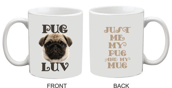 PUG LUV 11oz Coffee Mug