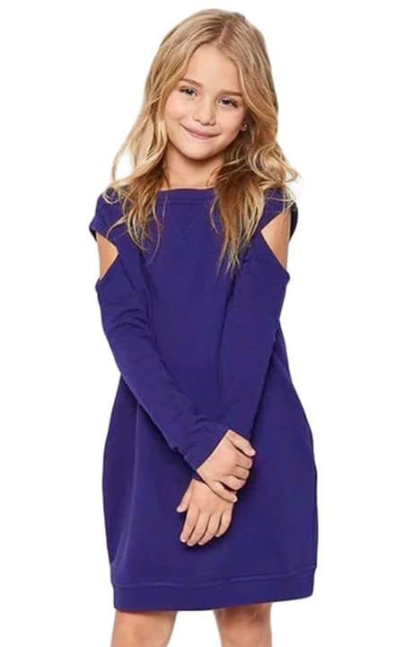 Purple Cold Shoulder Sweatshirt Dress with Pockets!!!