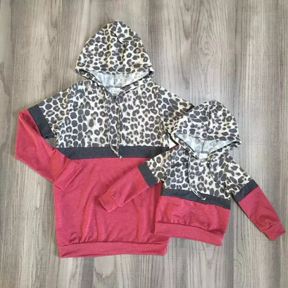 Cranberry Mommy and Me Leopard Hoodie