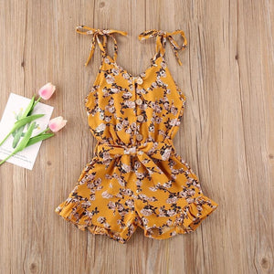 Golden Hour Floral Romper