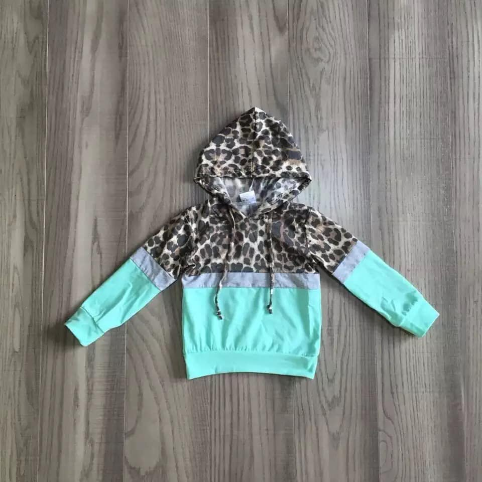 Mint Mommy and Me Leopard Hoodie