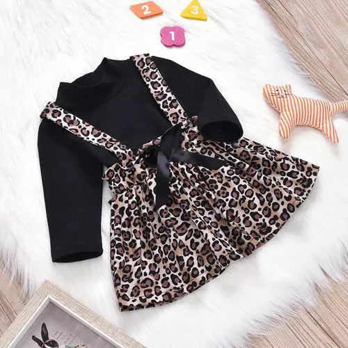 Leopard Skirt and Top Set