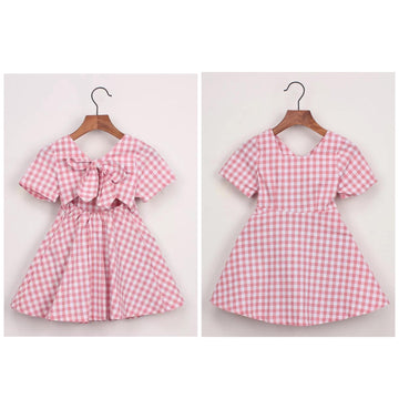 Pink and White Gingham Dress
